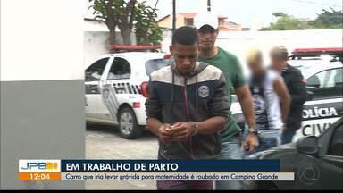 Carro que iria levar grávida para maternidade é roubado em Campina Grande - A mulher estava em trabalho de parto.