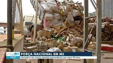Ministério da Justiça estende permanência por mais 90 dias das Forças Armadas em MS - Em Mato Grosso do Sul.