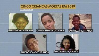 Rio de Janeiro teve 26 crianças de 0 a 11 anos mortas de forma violenta em 2018 - De 12 a 17 anos, foram 307 vítimas fatais, de um total de 4.950 mortos em todo o estado.