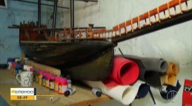Miniaturas de navios já foram exportadas pra África - Jovem talento de Areal.