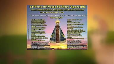 Veja a agenda de eventos desta semana - Festa de Nossa Senhora é realizada em Guaraciama.