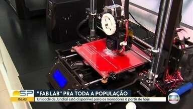 """""""Fab Lab"""" de Jundiaí está disponível pra toda a população - Espaço é dedicado à tecnologia e inovação."""