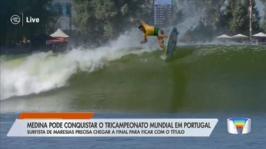 Gabriel Medina pode ser tricampeão do Mundial de Surfe já em Portugal - Filipinho vem na cola e, vice na França, Ítalo Ferreira corre por fora pelo título e pela classificação para Tóquio 2020. Oito surfistas ainda têm chances matemáticas de título