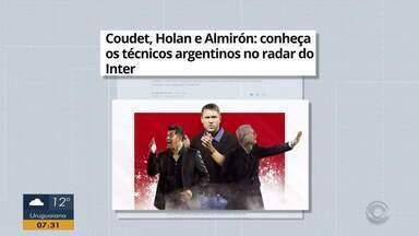 Coudet, Holan e Almirón são os técnicos argentinos no radar do Inter - Assista ao vídeo.