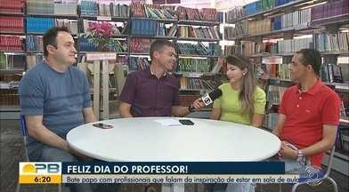 Dia do Professor; profissionais falam da inspiração de estar em sala de aula - Confira os detalhes com a repórter Hildebrando Neto.