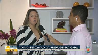 Conscientização da Perda Gestacional; psicóloga fala sobre dor diante da perda de um filho - Confira os detalhes com o repórter Felipe Valentim.