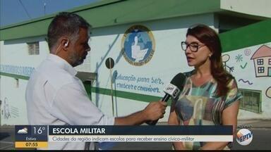 Cidades da região indicam escolas para receber ensino cívico-militar - Cidades da região indicam escolas para receber ensino cívico-militar