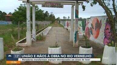 Moradores transformam espaços abandonados em áreas de lazer em Florianópolis - Moradores transformam espaços abandonados em áreas de lazer em Florianópolis