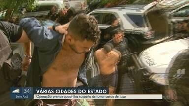 Quadrilha é presa em Sertãozinho e Ribeirão Preto por suspeita de furtos a casas - Polícia Civil cumpriu 12 mandados de busca e apreensão: joias, relógios e TVs foram apreendidos.