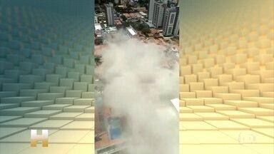 Prédio residencial de 7 andares desaba em Fortaleza - As buscas se concentram em pelo menos 2 pontos: nos escombros do prédio que desabou e também no mercadinho que fica bem em frente.