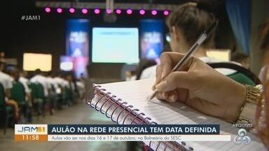 Aulão na Rede presencial começa amanhã, em Manaus - Aulas ocorrem nos dias 16 e 17 de outubro, no Balneário do SESC.