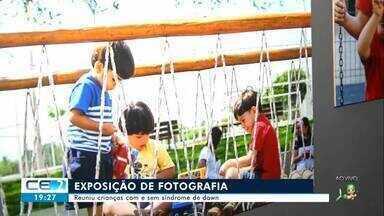Exposição de fotografia reúne crianças com e sem síndrome de down no Crato - undefined