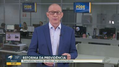 'Pode Perguntar': especialista esclarece dúvidas sobre aposentadoria especial - Hilário Bocchi comenta sobre a demora na análise dos pedidos por conta da reforma.