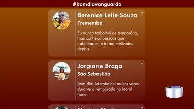 Confira participação do público no Bom Dia Vanguarda - Público interage pelas redes sociais.