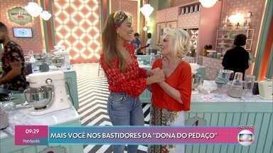 Ana Maria visita Juliana Paes no cenário de 'A Dona do Pedaço' - Cenário do reality 'Best Cake' é ao lado da Casa de Cristal