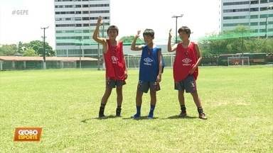 Turminha do Japão mostra talento no futebol Sub-13 do Sport - Crianças japonesas fazem intercambio na Ilha do Retiro