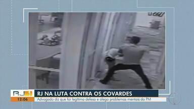 Advogado do sargento que agrediu mulher em Campos diz que foi legítima defesa - Caso aconteceu no sábado (12).