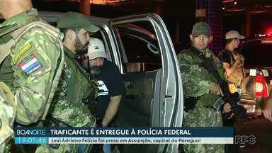 Traficante preso no Paraguai é entregue na Ponte Internacional da Amizade - Ele é suspeito de chefiar organização criminosa.