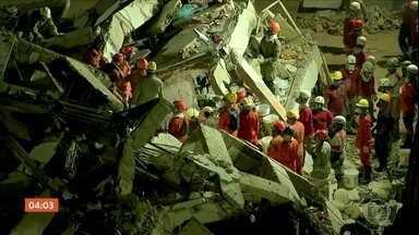 Sobe para seis o número de mortos no desabamento de prédio em Fortaleza - A possibilidade de encontrar sobreviventes é cada vez menor nos escombros do Edifício Andrea, que desabou na manhã de terça-feira (15). Quatro pessoas ainda estão desaparecidas.