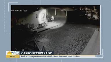 Polícia recupera carro roubado e prende dois em Belo Horizonte - Os presos eram irmãos. Veículo foi roubado no bairro Padre Eustáquio, na Região Noroeste da capital