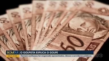 Suspeito de aplicar golpes em idosos conta detalhes da fraude - Homem confessou ter enganado aposentados, idosos e servidores públicos.