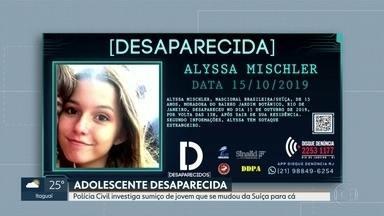 Polícia Civil investiga desaparecimento de jovem que se mudou da Suíça para o Brasil - Alyssa Mischler, de 15 anos, saiu de casa, no Jardim Botânico, na última terça-feira, e não foi mais vista.