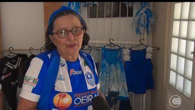 Conheça a história da Dona Mercês, torcedora do Oeirense - Conheça a história da Dona Mercês, torcedora do Oeirense