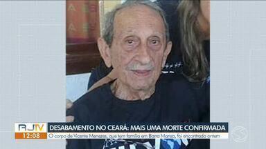 Corpo de idoso de Barra Mansa é encontrado nos escombros do prédio que caiu em Fortaleza - Bombeiros confirmaram a morte do idoso Vicente Menezes, de Izaura Menezes e a filha dela, Rosane Marques. Filho de Rosane, Fernando Marques, foi resgatado com vida.