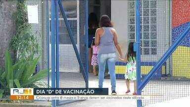 Dia D de vacinação contra sarampo acontece neste sábado no Sul do Rio - Postos de saúde de todo o país estão abertos para imunizar criançasentre 6 meses e 5 anos.