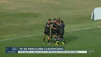 Com pênalti nos acréscimos, XV vence o São Bernardo e garante vaga na semifinal - Nhô Quim avança em segundo lugar e vai enfrentar o Mirassol por uma vaga na decisão da Copa Paulista.