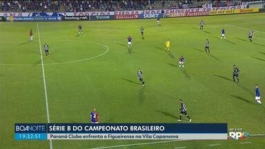 Paraná Clube enfrenta o Figueirense na Vila Capanema - Jogo é pela série B do Campeonato Brasileiro.