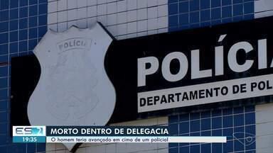 Preso por agressão é morto a tiros dentro de delegacia no ES - Disparos foram feitos por dois policiais militares dentro da cela, durante uma confusão.