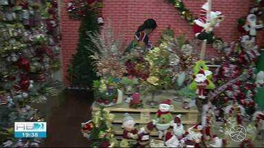 Comerciantes estão otimistas com vendas de artigos natalinos em Serra Talhada - Eles esperam um aumento de 10% nas vendas.