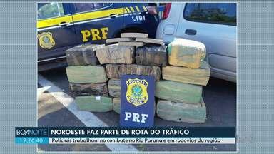 Noroeste é rota de tráfico de drogas e contrabando - Polícia do Batalhão de Fronteira e a Polícia Rodoviária Federal intensificam o trabalho para combater a ação de criminosos.