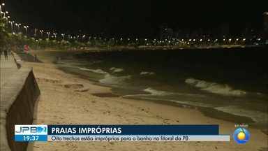 Oito trechos de praia estão impróprios para banho no litoral da Paraíba - Relatório foi divulgado pela Sudema.