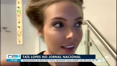 Apresentadora do 'Bom dia Ceará' representa nosso estado nos 50 anos do JN - Saiba mais no g1.com.br/ce