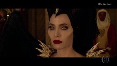 """Estreando novo filme, Angelina Jolie afirma que Malévola é sua segunda personalidade - Atriz revelou todo o seu amor pela personagem para a repórter Renata Capucci, que foi a Los Angeles conversar com o elenco do longa """"Malévola - Dona do Mal""""."""