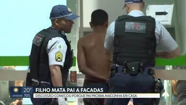 Filho mata pai a facadas em Ceilândia - Crime foi no sábado (19) à noite na QNM 22. Discussão teria começado porque pai proibia que filho fumasse maconha em casa.