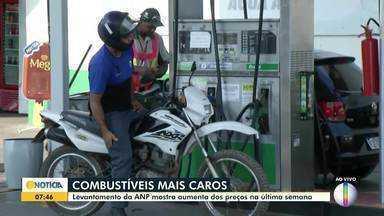 Agência Nacional do Petróleo registra aumento do preço do combustível no País - O preço médio está em R$ 4,38. Em Montes Claros, o aumento foi de 0,21%.