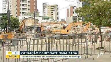 Edifício Andrea: Buscas chegam ao fim e perícia começa no local - Saiba mais em g1.com.br/ce