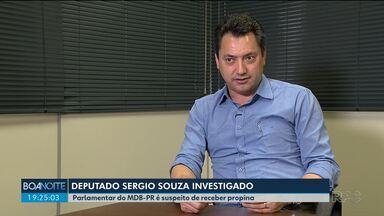 Deputado Sérgio Souza (MDB) é alvo de operação da Polícia Federal - Ele é suspeito de receber propina para beneficiar pessoas quando era relator da CPI dos fundos de pensão.