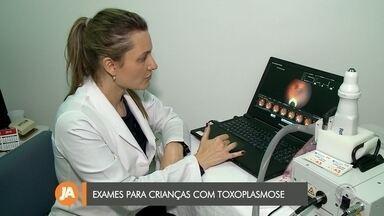 Mutirão faz exames nas crianças que contraíram toxoplasmose - Hospital Universitário promove mutirão de exames inédito para crianças com toxoplasmose.
