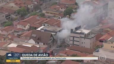 Corpo de piloto de aeronave que caiu em BH é velado nesta quarta - Allan Duarte de Jesus Silva, de 29 anos, chegou a ficar internado no HPS João XXIII, mas não resistiu às queimaduras, com quase 100% do corpo queimado.