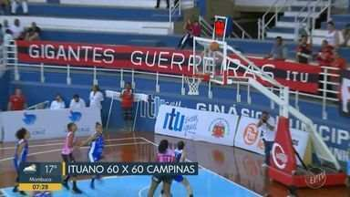Campinas sofre terceira derrota em cinco jogos no estadual de basquete feminino - Placar terminou em 70 a 67 para o Ituano, na prorrogação.