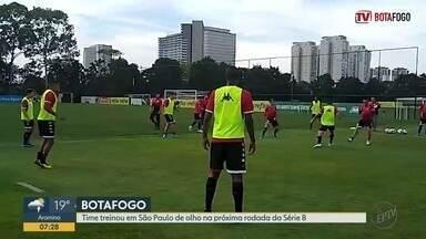 Botafogo-SP treina pela última vez em São Paulo antes de viajar a Alagoas - Tricolor de Ribeirão Preto (SP) enfrenta o CRB nesta quinta-feira (24).