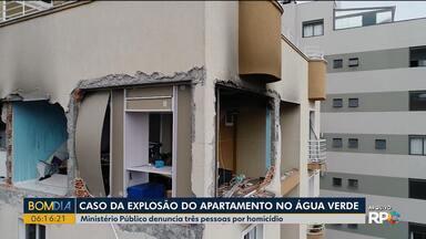 Ministério Público denuncia três pessoas no caso da explosão no Água Verde - Todos vão responder por homicídio qualificado.