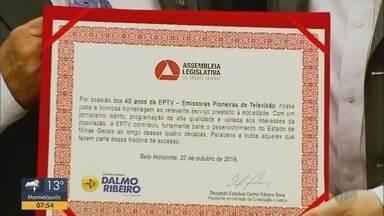 EPTV é homenageada pela Assembleia Legislativa de MG - EPTV é homenageada pela Assembleia Legislativa de MG