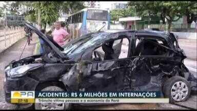 Acidentes de trânsito custam R$ 6 milhões em internações - Acidentes de trânsito custam R$ 6 milhões em internações