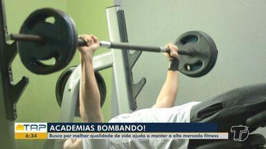 Mercado de academias cresce cada vez mais em Santarém - Procura por qualidade de vida ajuda a manter o mercado em alta.