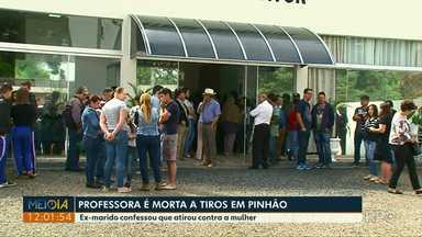 Corpo de professora morta a tiros por ex-marido é velado em Pinhão - Ex-marido confessou que atirou contra a mulher.